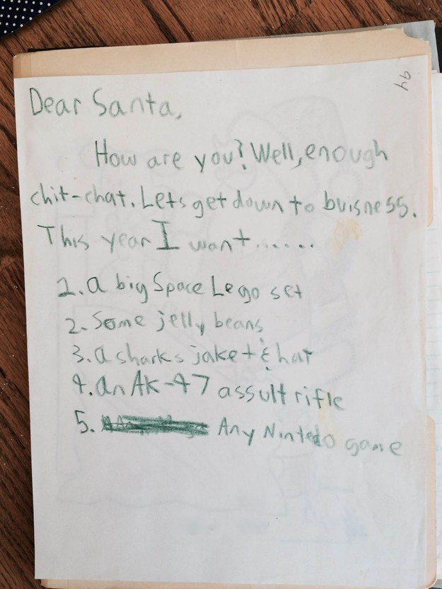 Children's Santa Letters that cut straight to the point