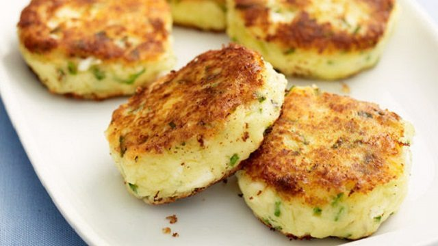 Layered Fish And Potato Cakes