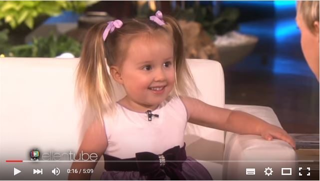 ellen degeneres, kids on ellen degeneres, ellentube, breille, smart kids, the smartest kid in the world, youtube videos