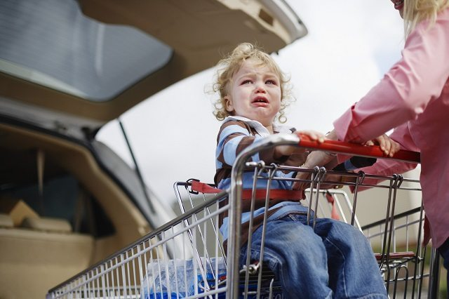 toddler, toddler tantrum, going shopping with a toddler, toddler at the supermarket