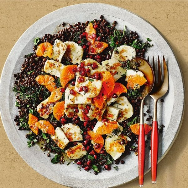 WARM LENTIL, HALLOUMI AND CLEMENTINE SALAD