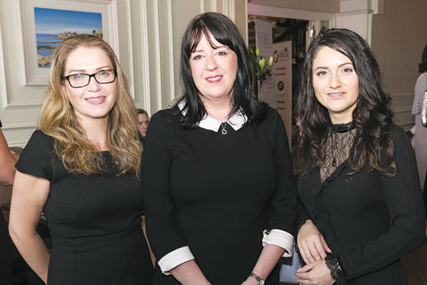 Jennifer Rebaudo and Cristina Ceobanu from Clevamama and Ann Marie Graham from Canavan Byrne